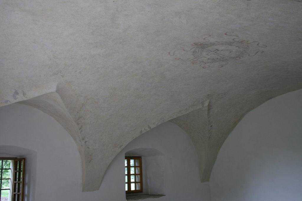 Lamus w Hawłowicach Górnych – fragment wnętrza