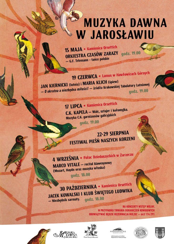 Muzyka Dawna w Jarosławiu - plakat