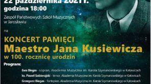 Czytaj więcej o: Koncert pamięci maestro Jana Kusiewicza