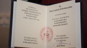 """Czytaj więcej o: Izabela Dzieduszycka – """"Zasłużona dla Województwa Podkarpackiego"""""""